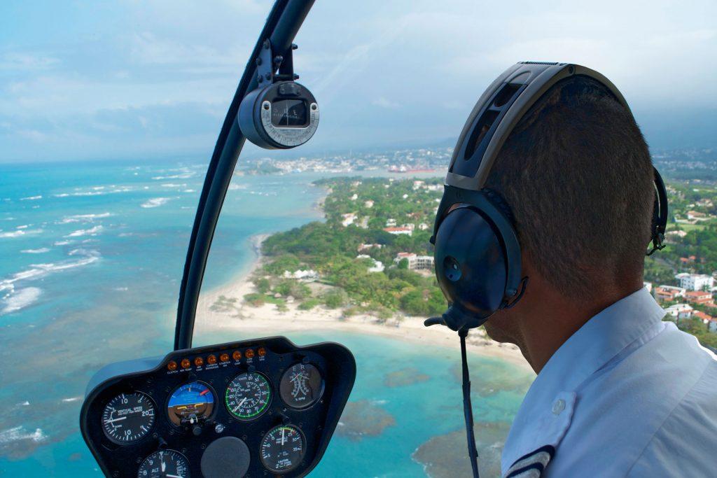 Helicopter flight cockpit