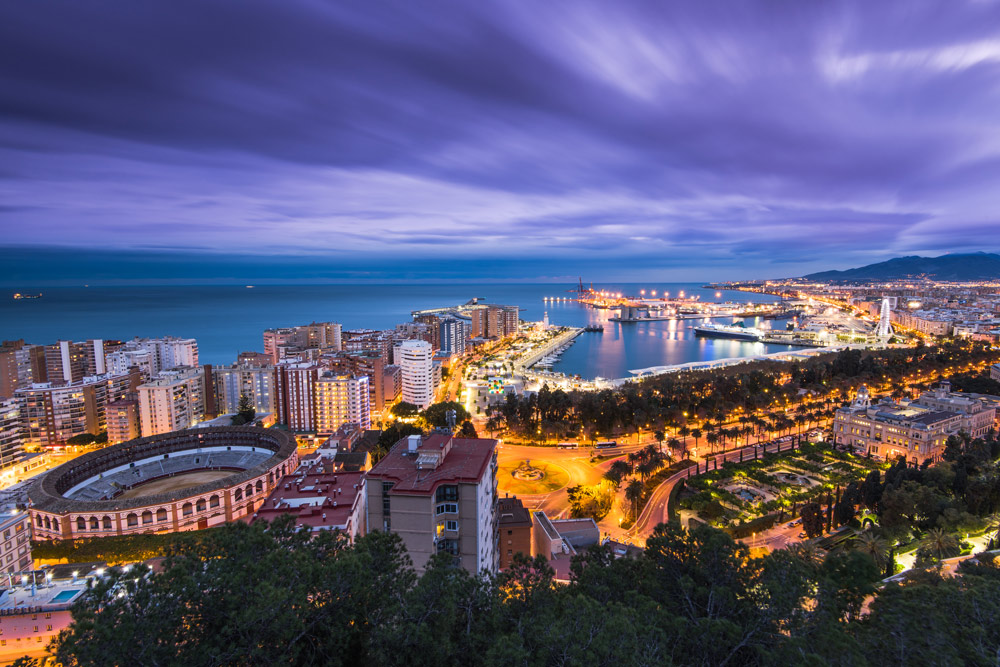 Malaga panoramic cityscape