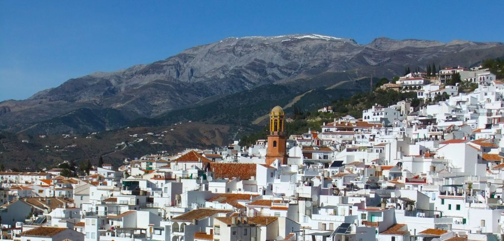 Competa town in the Axarquia