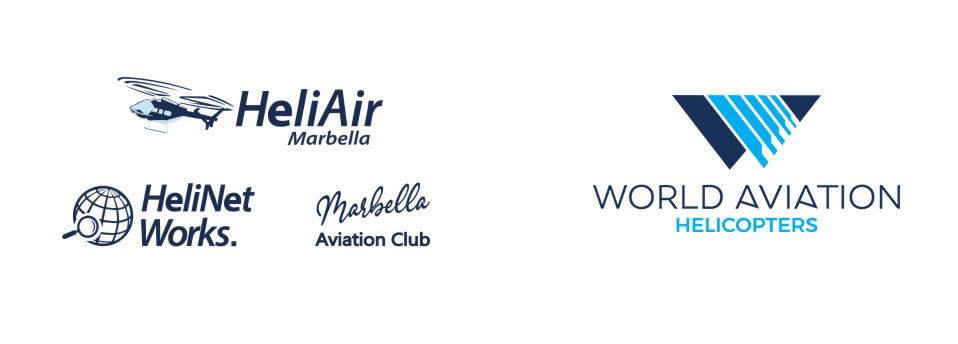 World Aviation and HeliAir Marbella logos